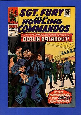 Sgt. Fury And His Howling Commandos #35 Vf High Grade Silver Age Marvel
