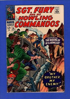 Sgt. Fury And His Howling Commandos #36 Fn+ High Grade Silver Age Marvel