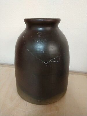 Rare Antique Sweet & Teats 2 Gallon Stoneware Jar Eldora, Iowa