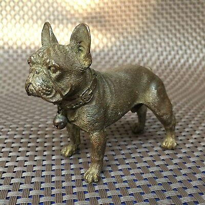 Antique Chinese Collectible Rare Handwork Old Copper ferocity Bulldog Statue