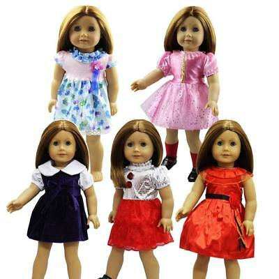 5Sets Casual Outfits Wear Dress Skirt  for America 18 inch Girl Doll Life Dolls
