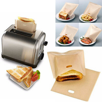 Portable Toaster Bags Reusable Non-stick Baked Toast Bread Bags for Sandwiches