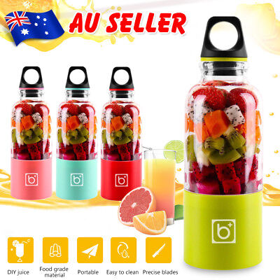 Portable Juice Maker 500ML Juicer Cup Electric USB Rechargeable Blender Bottle