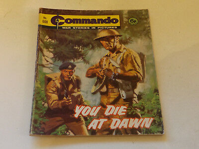 Commando War Comic Number 600 !,1971 Issue,good For Age,48 Years Old,very Rare