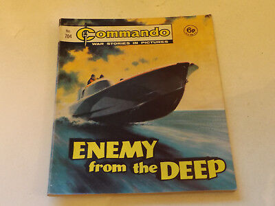 Commando War Comic Number 704 !,1972 Issue,v Good For Age,47 Years Old,very Rare