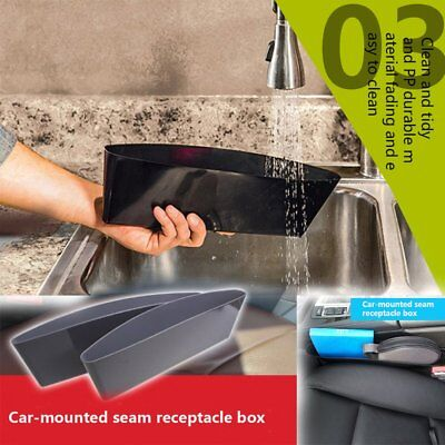 Car Storage Box Gap Filler Pocket Organizer Car Seat Side Drop Caddy Catcher UT