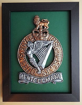 Large Scale Framed Queen's Royal Irish Hussars Badge QRIH