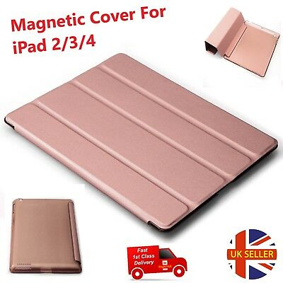 For Apple iPad 2/3/4 Models Smart Magnetic Leather Stand Front Back Case Cover