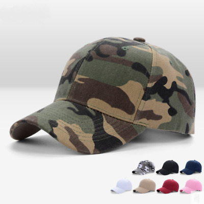 Women's Men's Camo Caps Military Army Hat Outdoor Baseball Camouflage Snapback