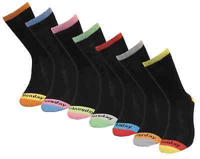 7 Pairs Socks Luxurious Quality Comfortable Mens 7 Days Of The Week Uk Size 6-11