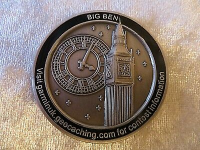 Geocaching Garmin Geocoin Big Ben Part Of Series Collectable