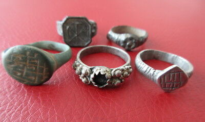 Ring group roman to medieval and later, Silver, Bronze, zinc  +++