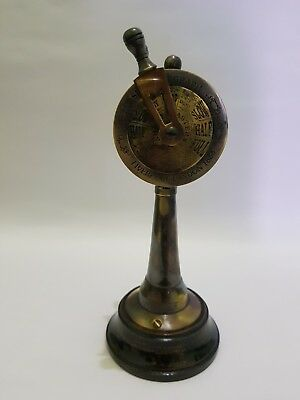 Antique Brass Ship's Engine Order Telegraph  Nautical Ring Bell Marine maritime