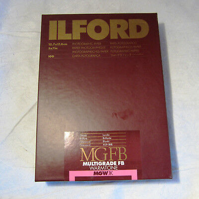1 Pack. 100 Blatt Ilford Multigrade FB Warmetone Fotopapier