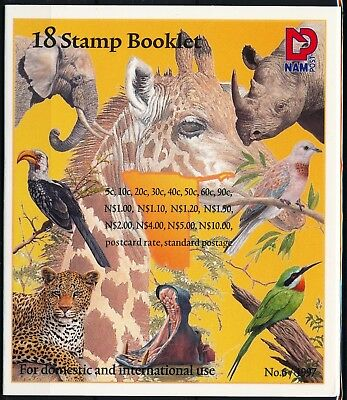 [H11170] Namibia 1997 : Fauna - Good Very Fine MNH Complete Booklet