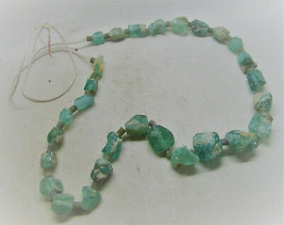 Ancient Roman Glass Bead Necklace