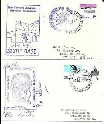 Ross Dependency New Zealand 1971 & 73 Antarctic covers (A)