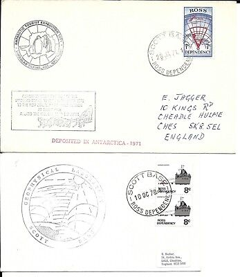 Ross Dependency New Zealand 1971 & 78 Antarctic covers (B)