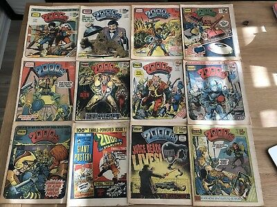 Bundle 2000AD Issue Prog 100, 189, 190, 191, 212, 216, 218, 220, 221, 223, 224