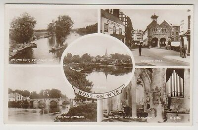 Herefordshire postcard - Ross on Wye (Multiview showing 5 scenes) - (A21)