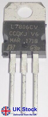 +6V Positive Voltage Regulator L7806CV L7806C LM7806 7806 TO-220 (Pack of 1-50)