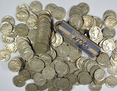1 Roll (40 Coins) Mixed Condition No Date Buffalo Nickels (NDBN)