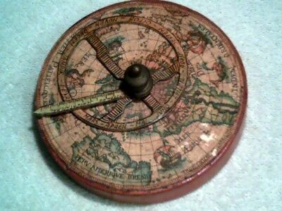 """Old Decorative ASTROLABE Paperweight - Italy - Nautical - 3 5/8"""" Dia x 1 1/4"""" H"""