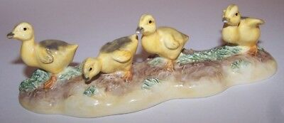 John Beswick Pottery Hand Painted Set Of Four Yellow Ducklings / Chicks.