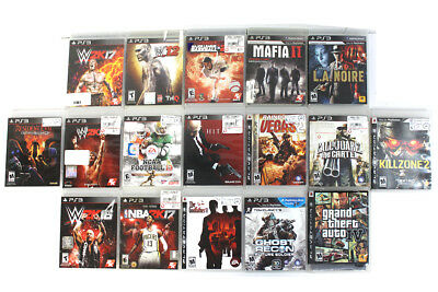 PS3 Game Lot 17 Games In Original Cases All Working Correctly LOOK!!