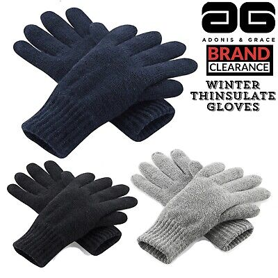 Winter Thermal Gloves Thinsulate Quality Knitted Warm MENS Ladies Branded A & G