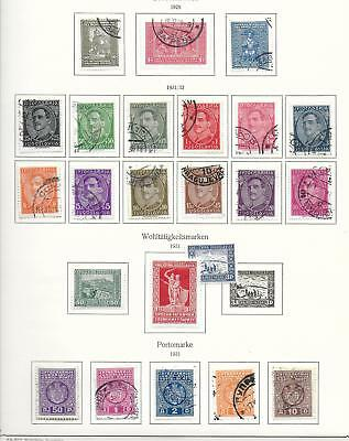 Yugoslavia stamps 1929 Collection of 23 stamps CANC/MLH VF HIGH VALUE!
