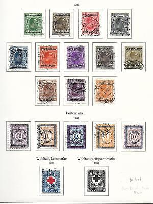 Yugoslavia stamps 1933 Collection of 18 stamps CANC VF HIGH VALUE!