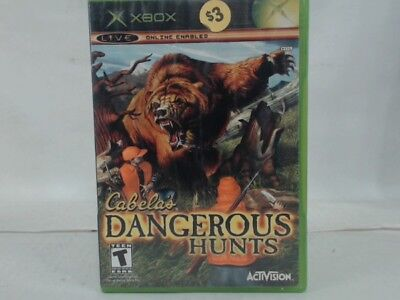 CABELA'S DANGEROUS HUNTS Xbox Complete in Box w/ Manual CIB Acceptable