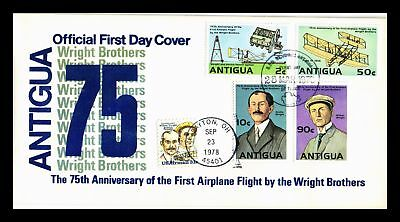Dr Jim Stamps First Airplane Flight Wright Brothers Fdc Antigua Monarch Cover