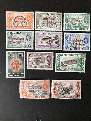 Fresh Nigeria opt Cameroon 1960 set to 10/- oh mh SG T1-T11