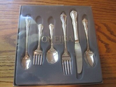 Oneida Rogers PROGRESS Harmony Silverplate 6 PC Toddler Feeding Fork Spoons Set