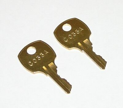 2 - C33A C033A AMI Rowe Jukebox Brass Replacement Cabinet Keys fit National