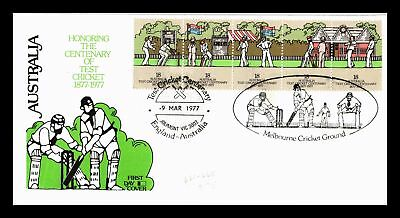 Dr Jim Stamps Centenary Test Cricket Fdc Australia Combo Monarch Size Cover