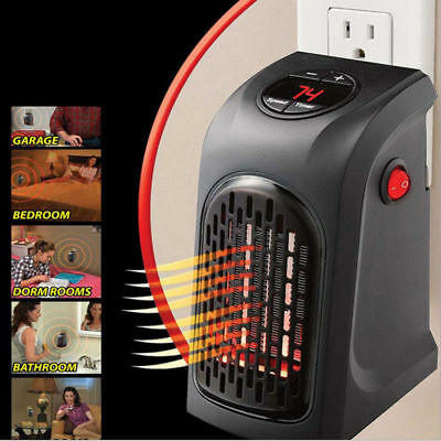 US Plug in 400W Mini Furnace Portable Electric Wall-outlet Space Heater 110V