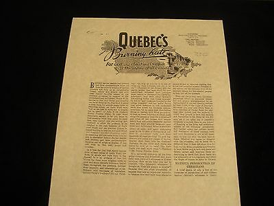 "VERY RARE 1946 ""QUEBEC'S BURNING HATE"" tract persecution Watchtower IBSA Jehovah"