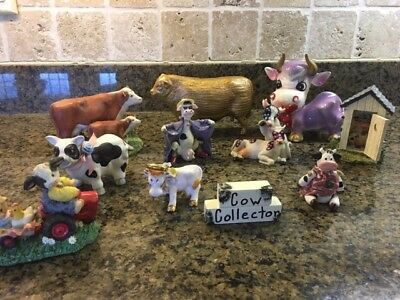 Cow Collectibles, Hodge Podge of Cow Figurines