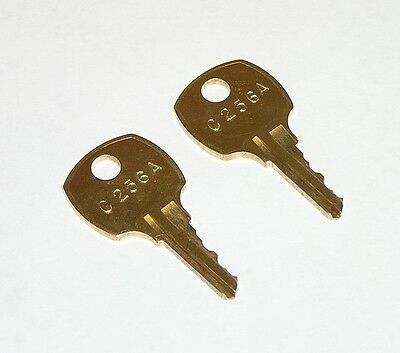 2 - C256A AMI Rowe Jukebox Brass Replacement Cabinet Keys fit CompX National