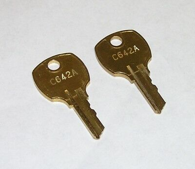 2 - National C642A Cabinet Drawer Lock Original OEM Keys