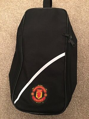 Mufc Manchestet United Black Boot Bag