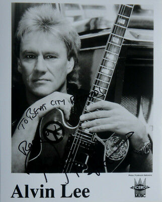 """Ten Years After ALVIN LEE Signed Autographed Promo 8"""" X 10"""" Rock Publicity Photo"""