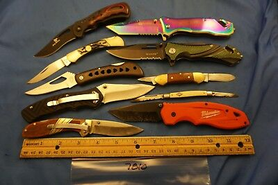 7810 Ten assorted pocket knives