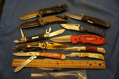 7812 Ten assorted pocket knives
