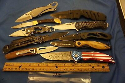 7813 Ten assorted pocket knives