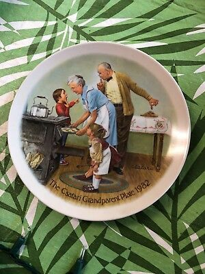 Norman Rockwell plate - The Cookie Tasting