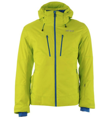 Nevica Chanson Ski Jacket Mens Size Small Florescent / Royal Blue New With Tags